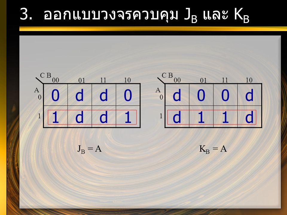 3. ออกแบบวงจรควบคุม JB และ KB