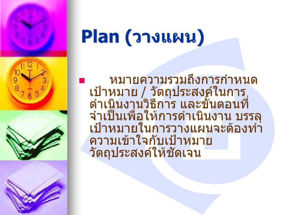 Plan (วางแผน)