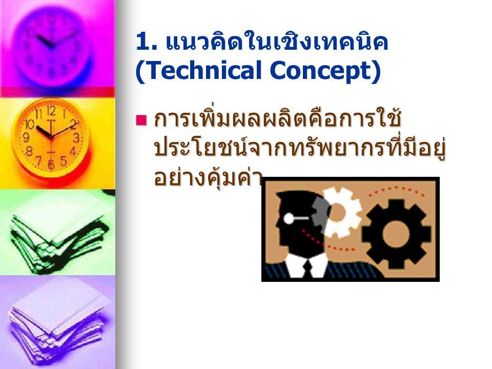 1. แนวคิดในเชิงเทคนิค (Technical Concept)