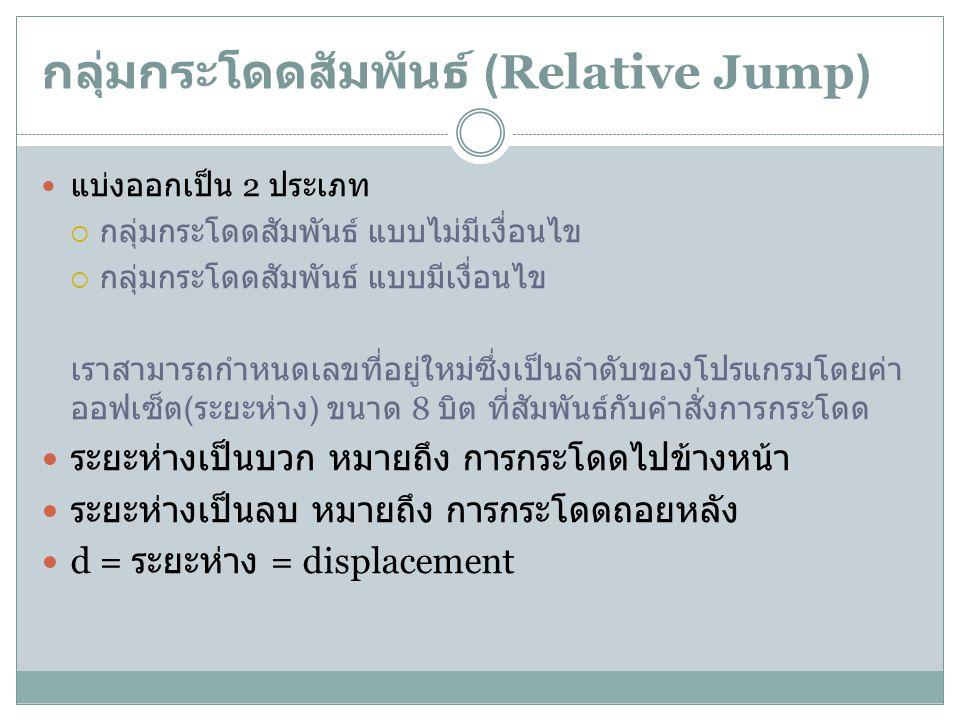 กลุ่มกระโดดสัมพันธ์ (Relative Jump)