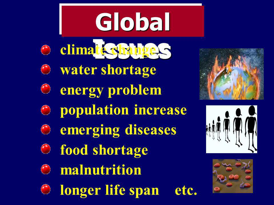 Global Issues climate change water shortage energy problem