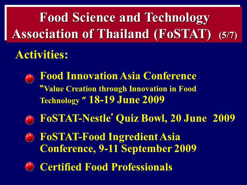 Food Science and Technology Association of Thailand (FoSTAT) (5/7)