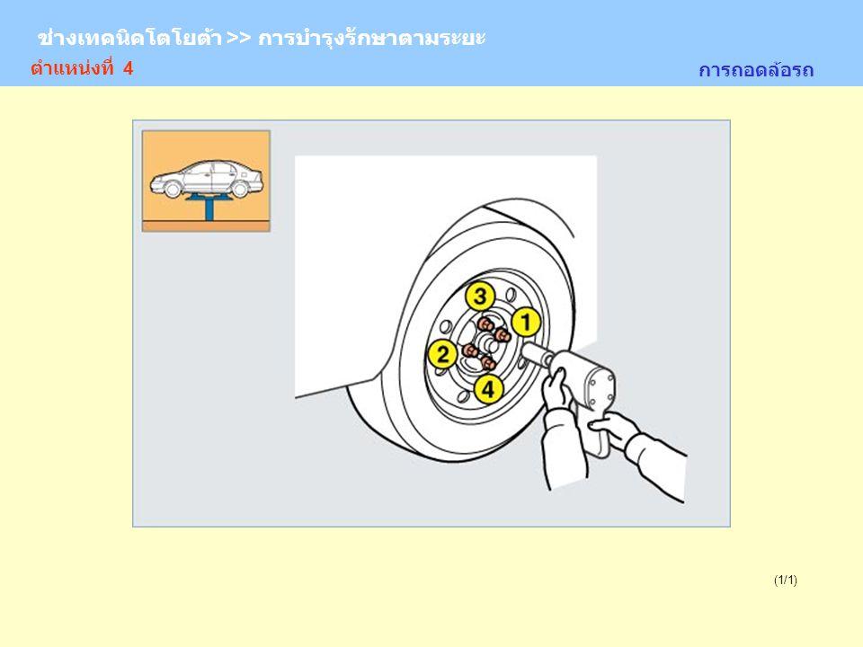 ช่างเทคนิคโตโยต้า >> การบำรุงรักษาตามระยะ