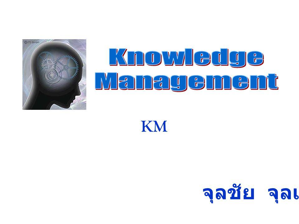 Knowledge Management KM จุลชัย จุลเจือ