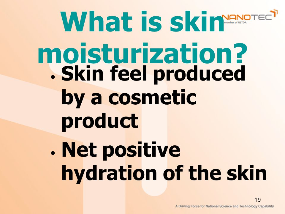 What is skin moisturization