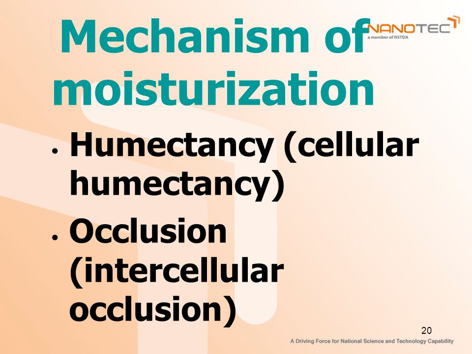 Mechanism of moisturization