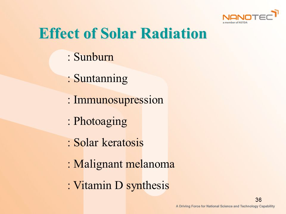 Effect of Solar Radiation