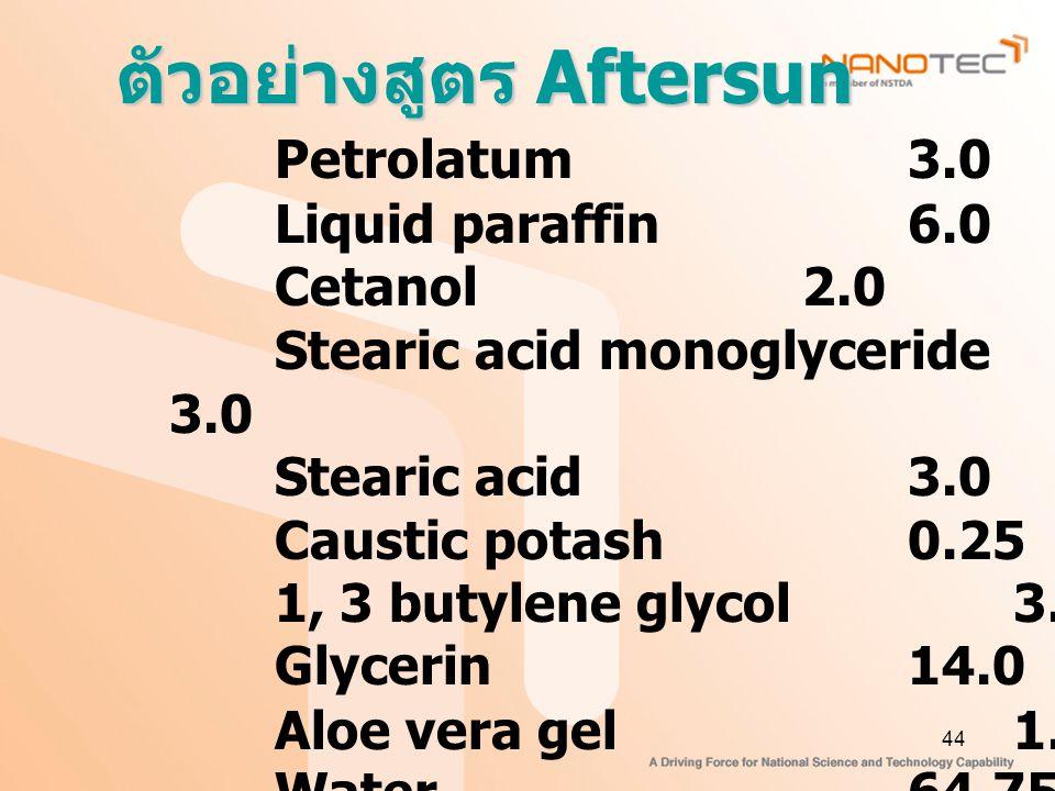 ตัวอย่างสูตร Aftersun
