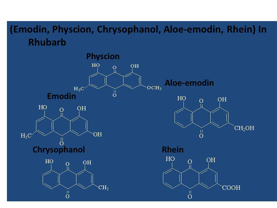 (Emodin, Physcion, Chrysophanol, Aloe-emodin, Rhein) In Rhubarb