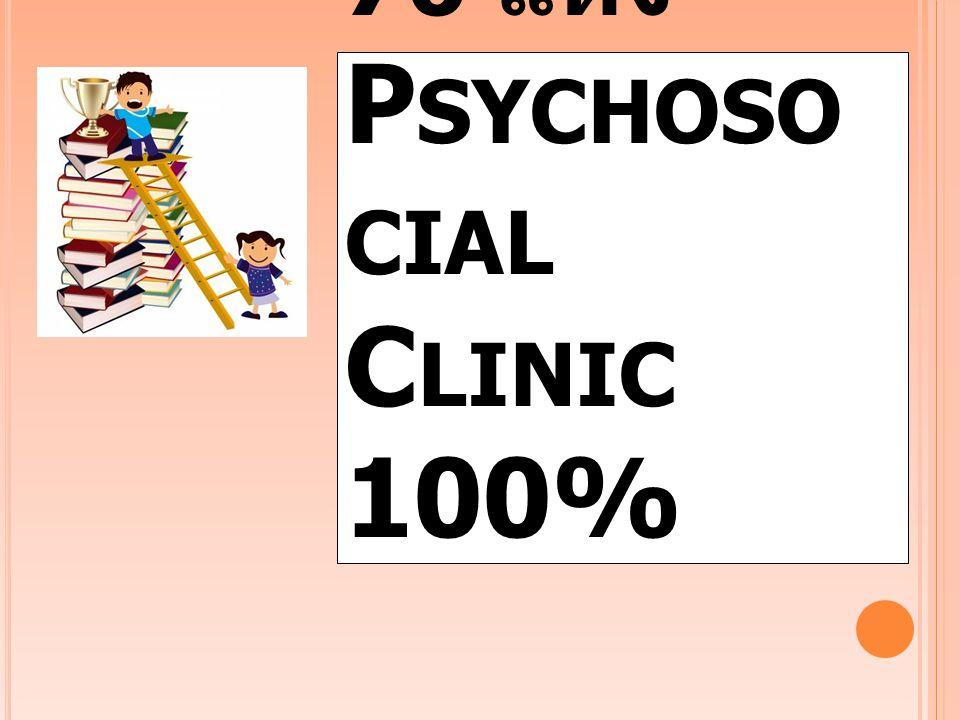 โรงพยาบาล 76 แห่ง Psychosocial Clinic 100%