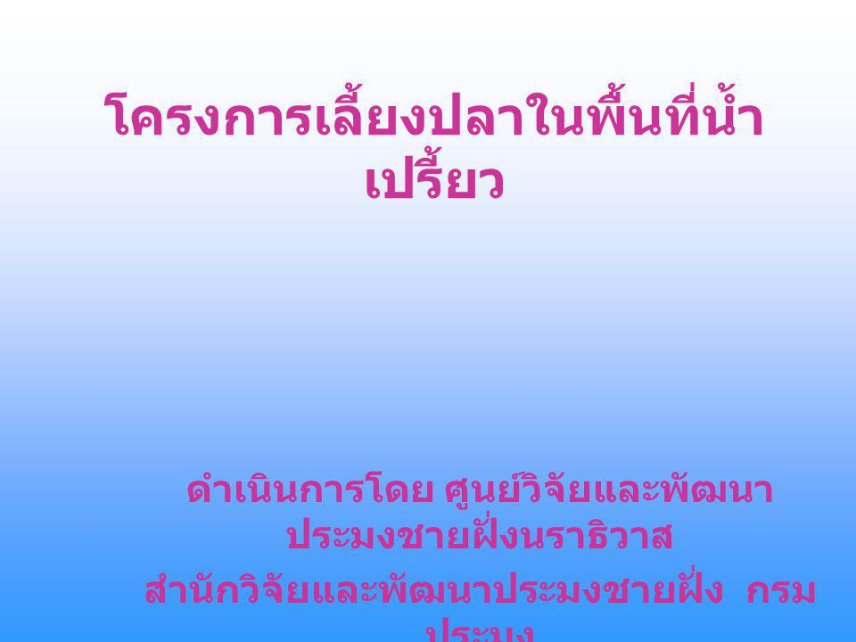 โครงการเลี้ยงปลาในพื้นที่น้ำเปรี้ยว