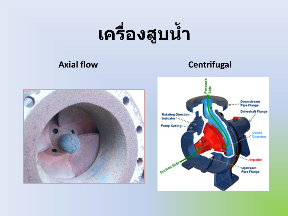 เครื่องสูบน้ำ Axial flow Centrifugal