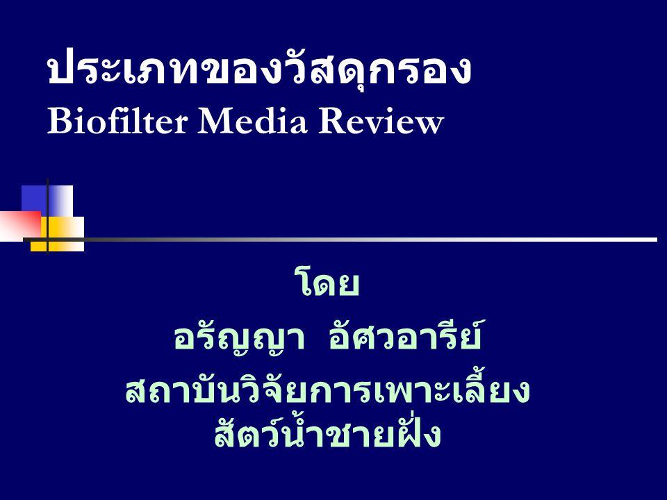 ประเภทของวัสดุกรอง Biofilter Media Review