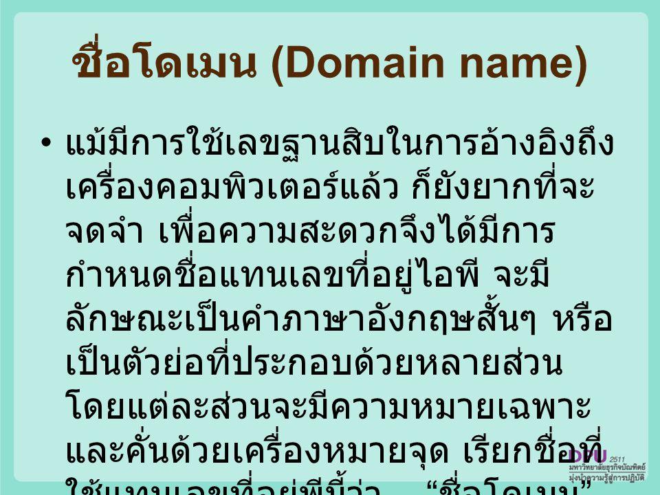 ชื่อโดเมน (Domain name)