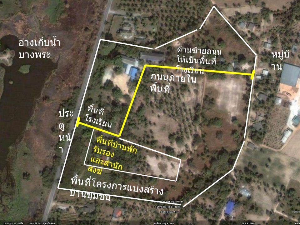 พื้นที่โครงการแบ่งสร้างบ้านชุมชน