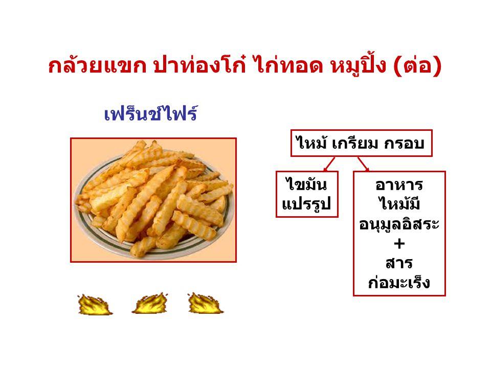 กล้วยแขก ปาท่องโก๋ ไก่ทอด หมูปิ้ง (ต่อ)