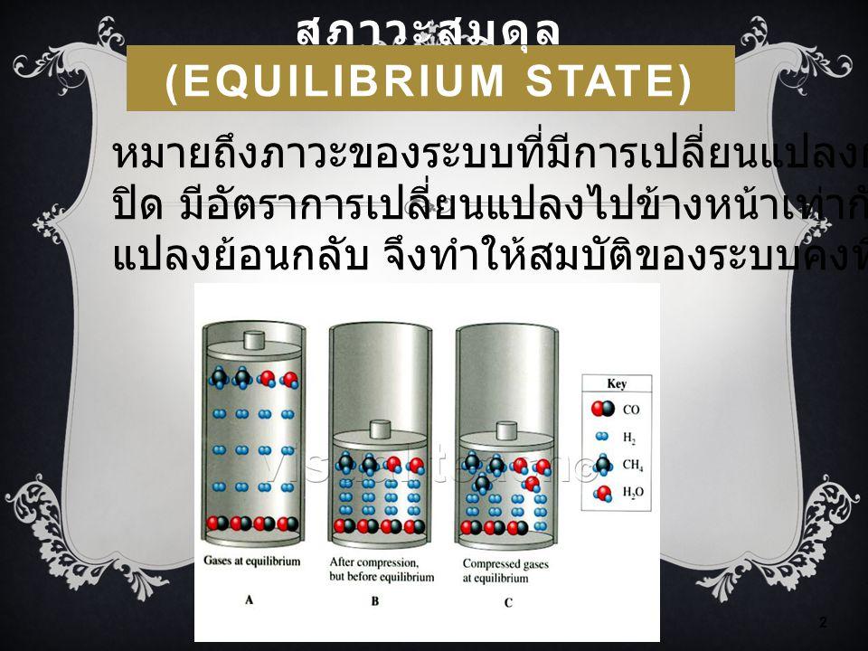 สภาวะสมดุล (Equilibrium State)