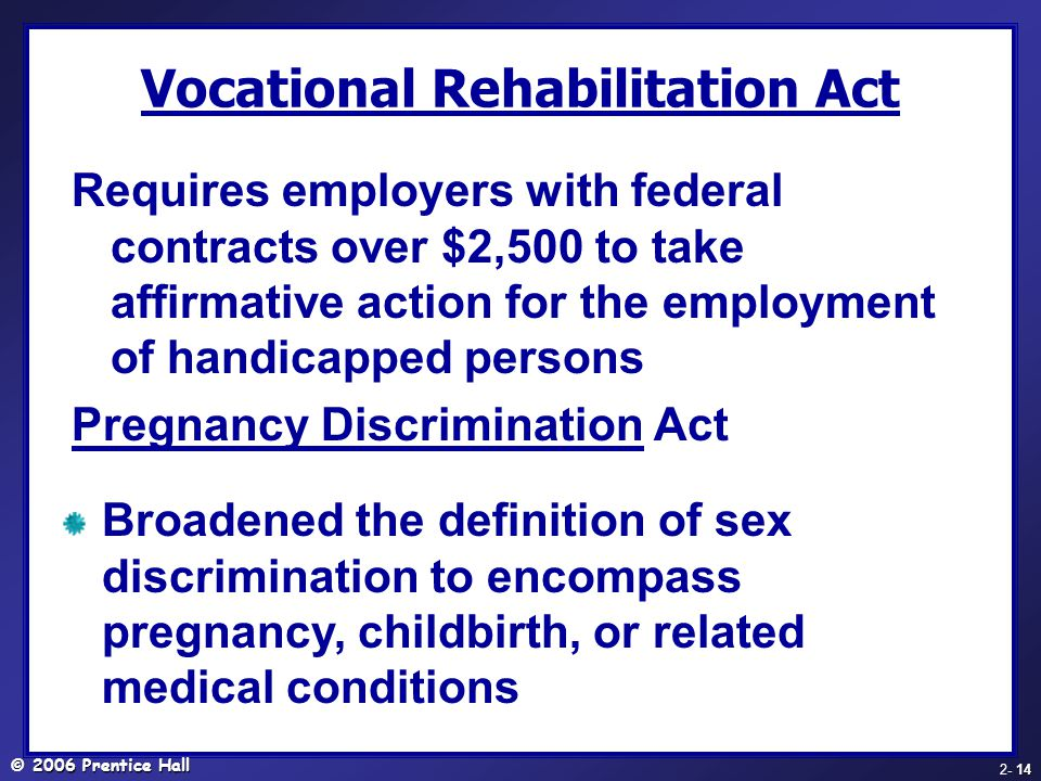 Vocational Rehabilitation Act