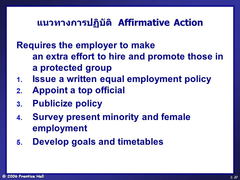 แนวทางการปฏิบัติ Affirmative Action