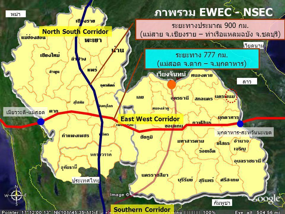 ภาพรวม EWEC - NSEC ระยะทางประมาณ 900 กม.