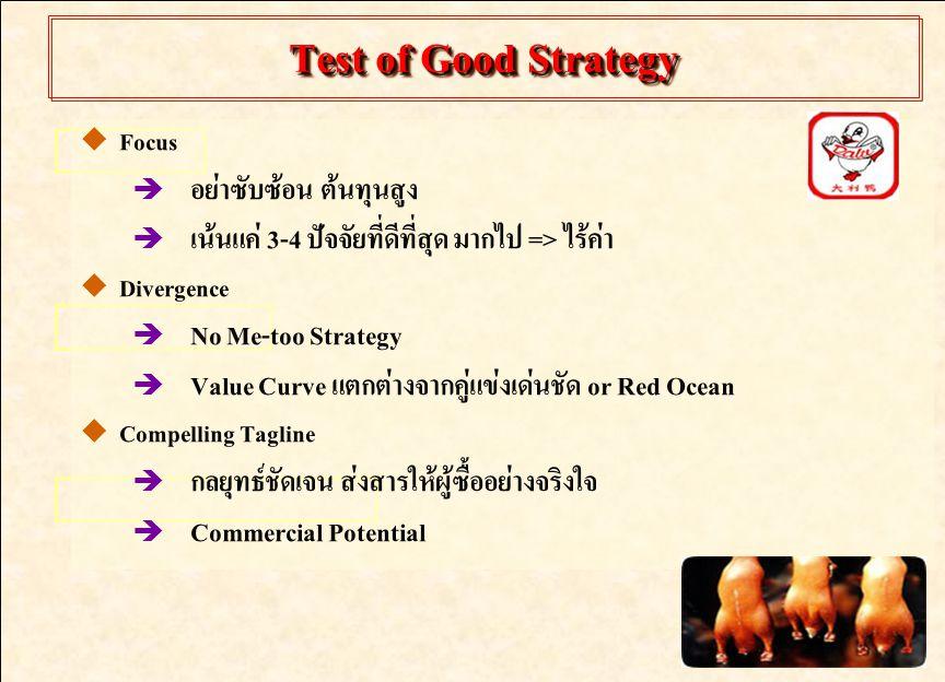 Test of Good Strategy อย่าซับซ้อน ต้นทุนสูง