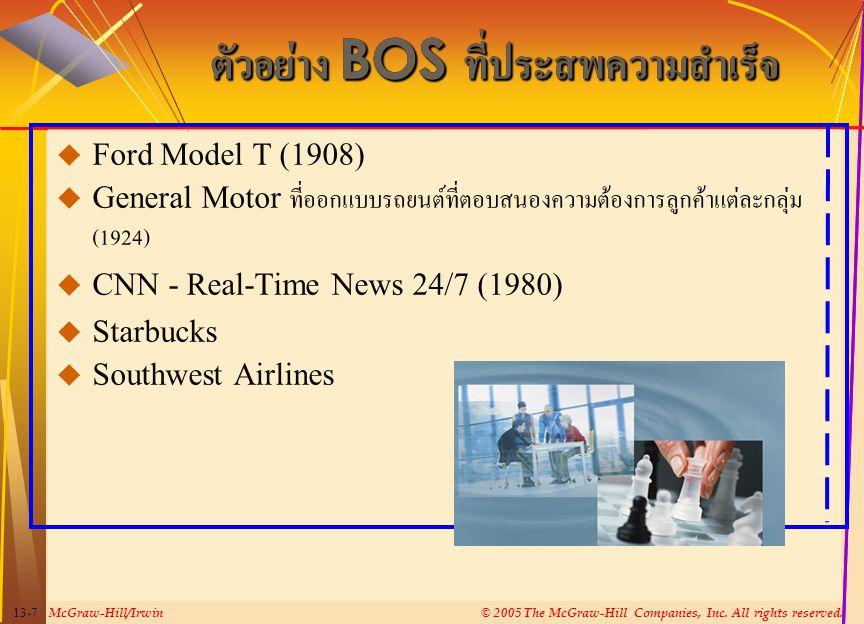 ตัวอย่าง BOS ที่ประสพความสำเร็จ