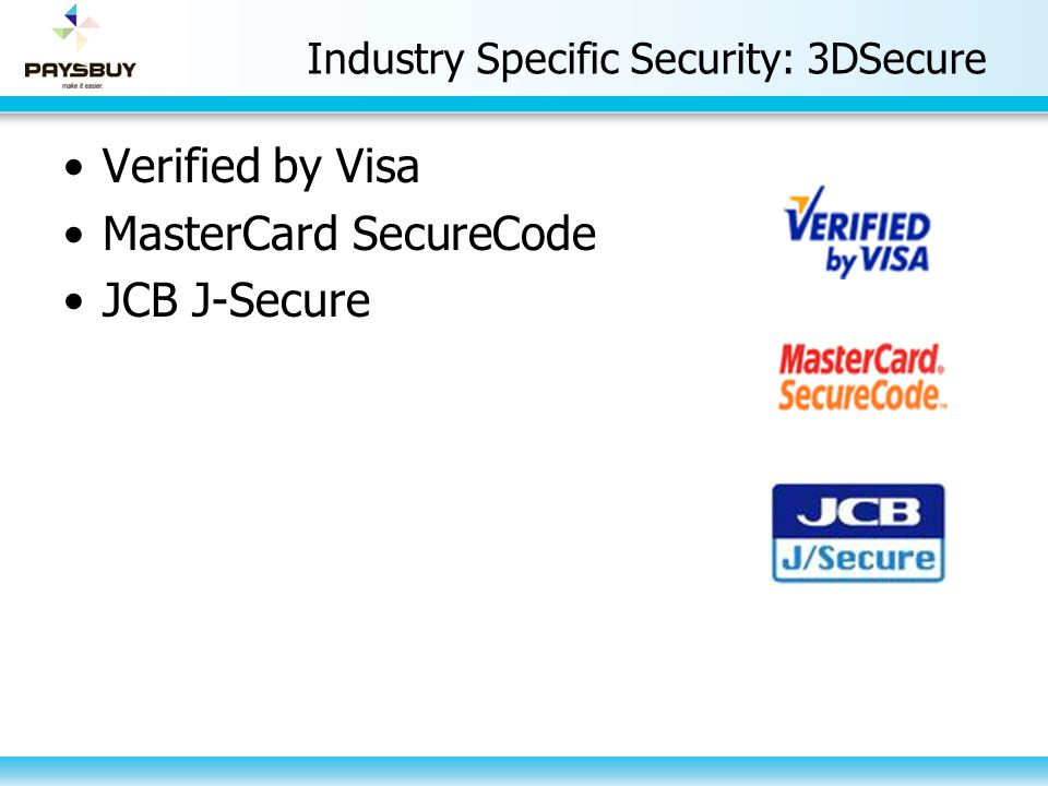 Industry Specific Security: 3DSecure
