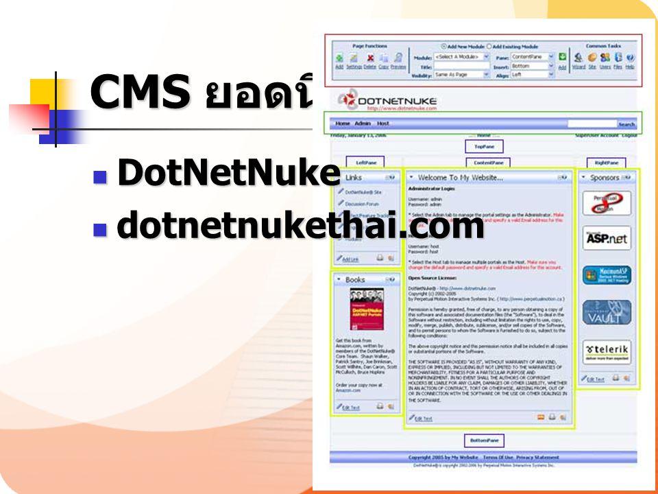 CMS ยอดนิยม DotNetNuke dotnetnukethai.com