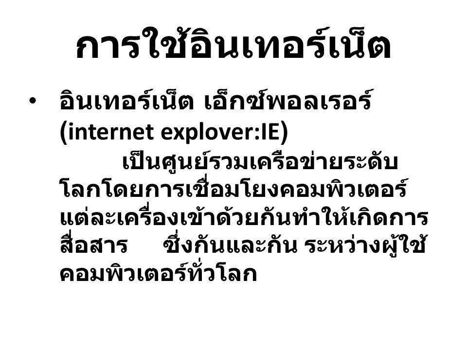 การใช้อินเทอร์เน็ต