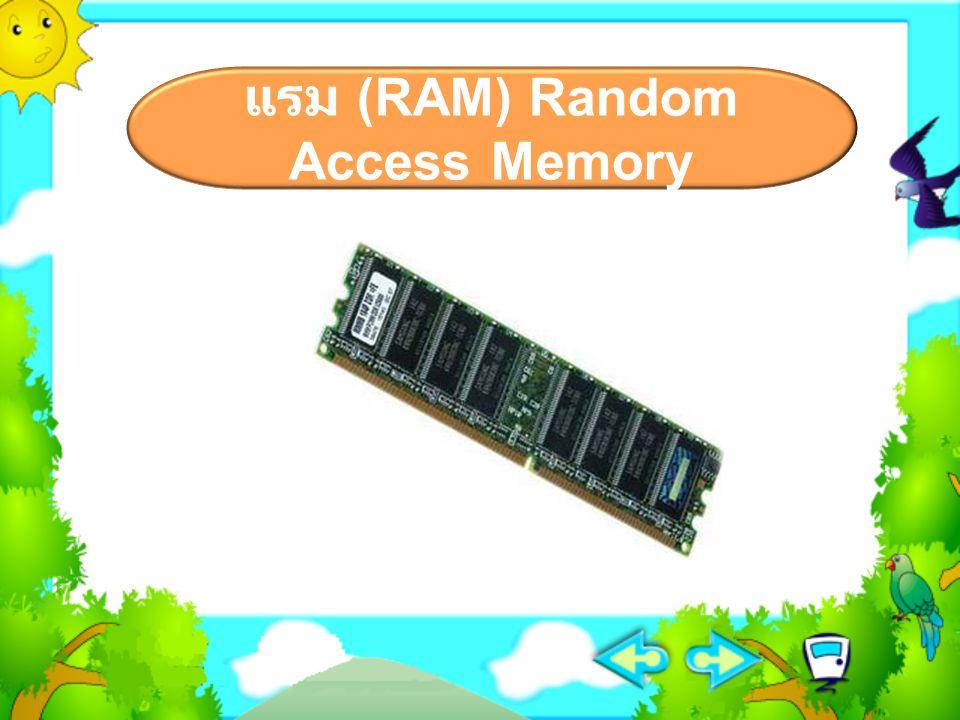 แรม (RAM) Random Access Memory
