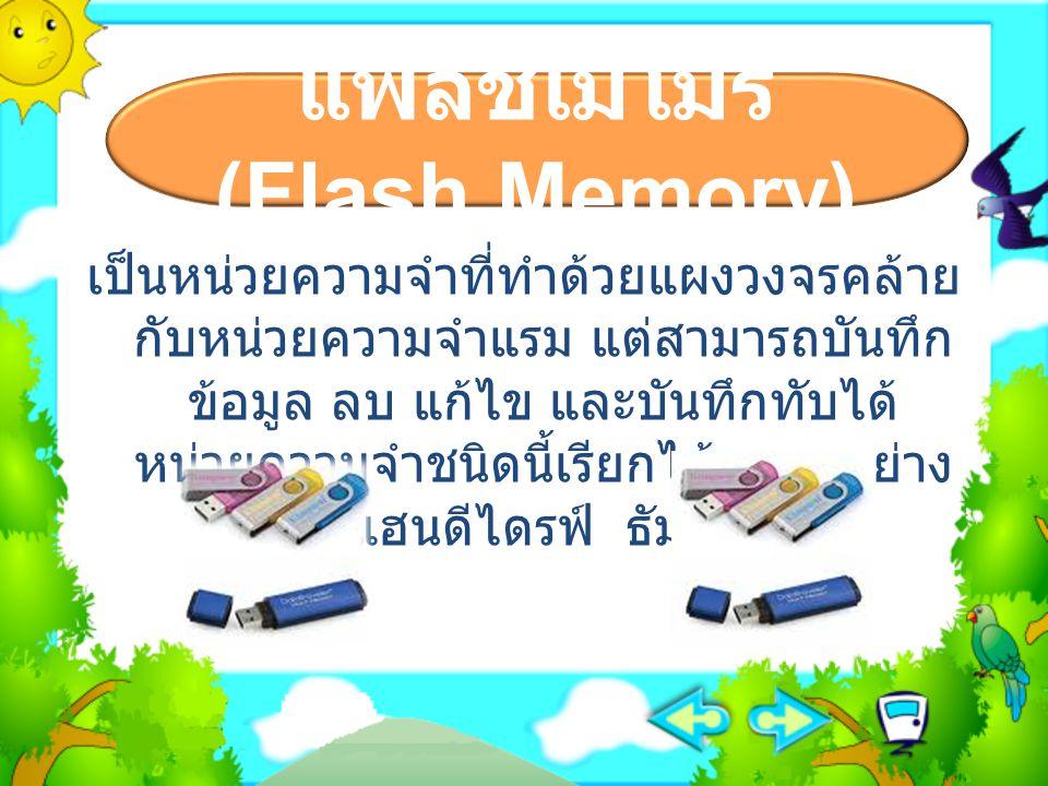 แฟลชเมโมรี (Flash Memory)