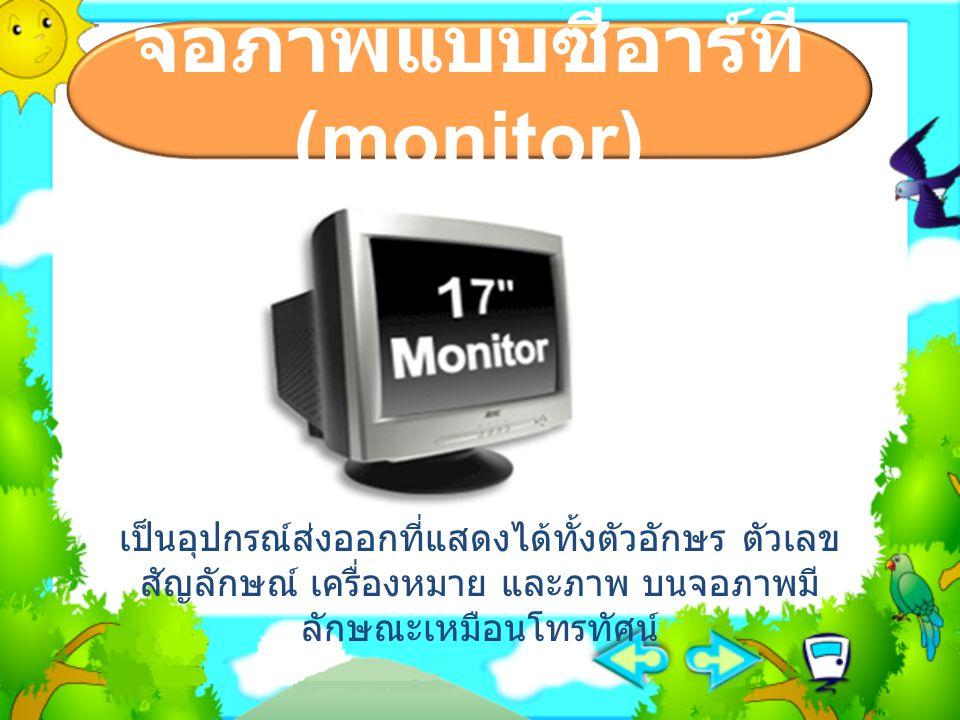 จอภาพแบบซีอาร์ที (monitor)
