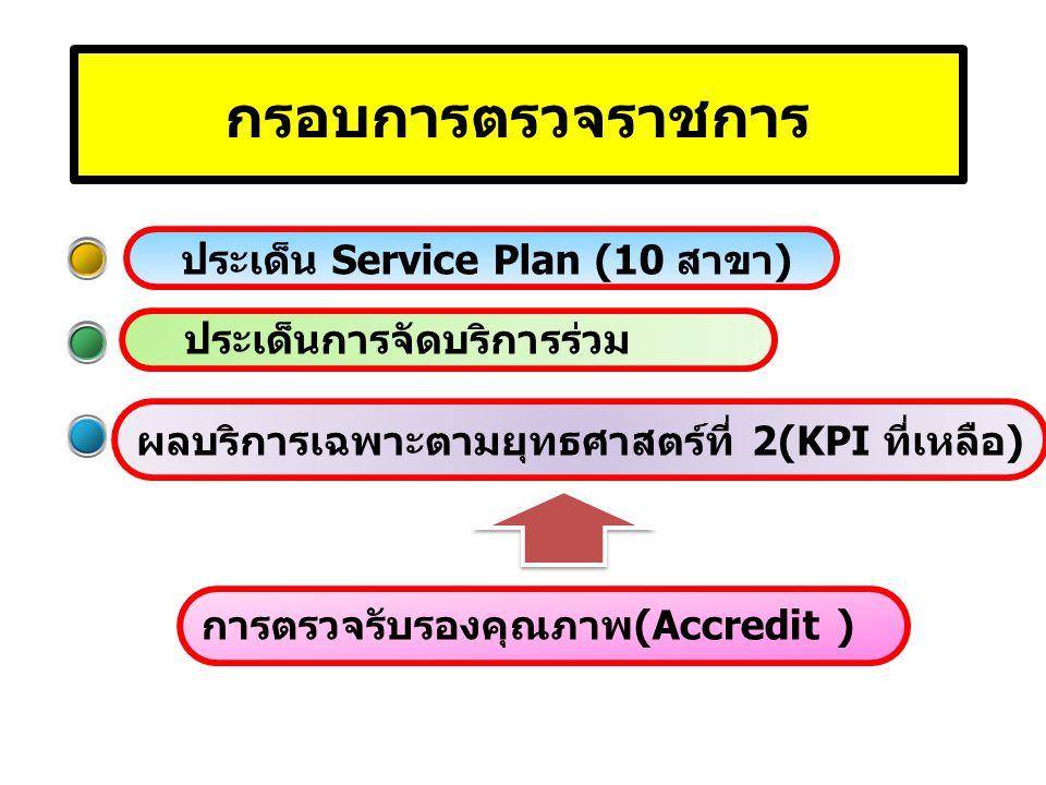 กรอบการตรวจราชการ ประเด็น Service Plan (10 สาขา)