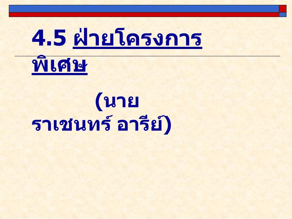 4.5 ฝ่ายโครงการพิเศษ (นายราเชนทร์ อารีย์)