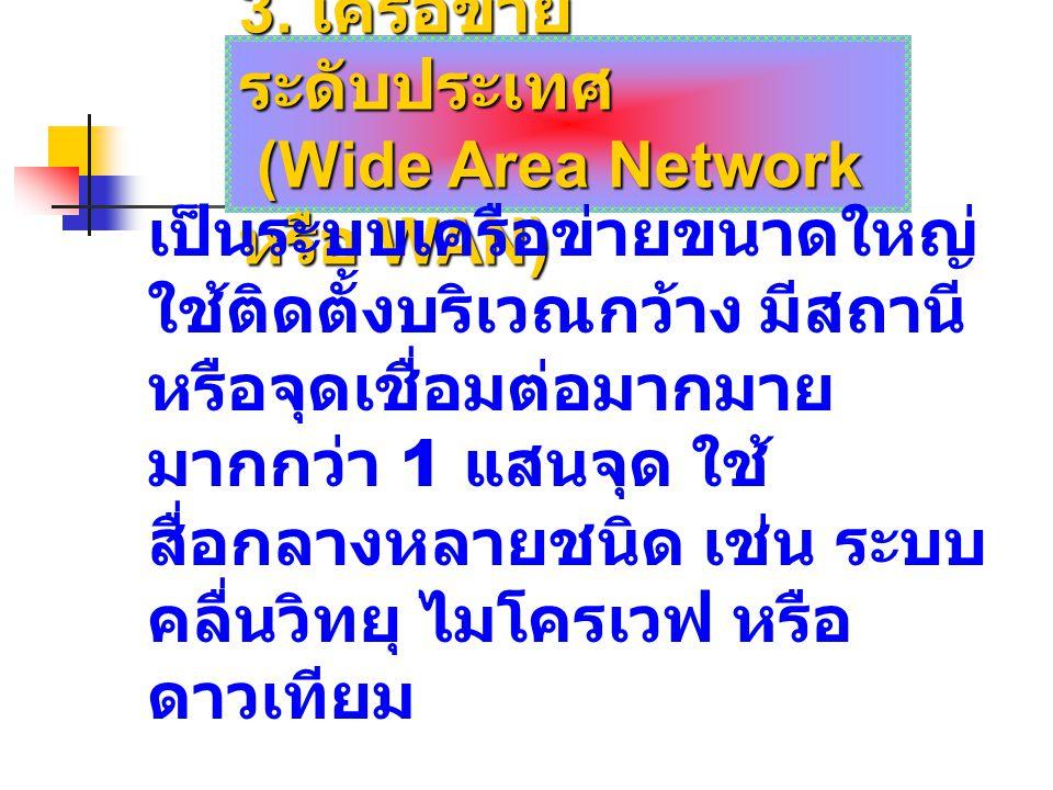 3. เครือข่ายระดับประเทศ