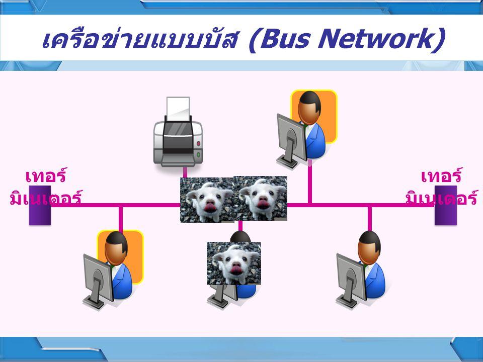 เครือข่ายแบบบัส (Bus Network)