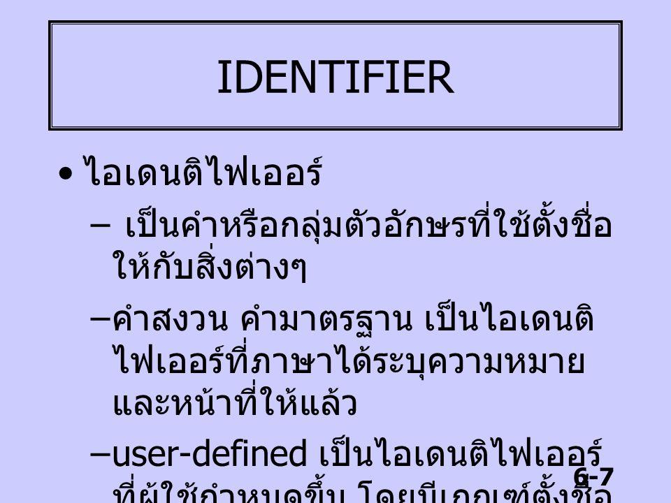 IDENTIFIER ไอเดนติไฟเออร์