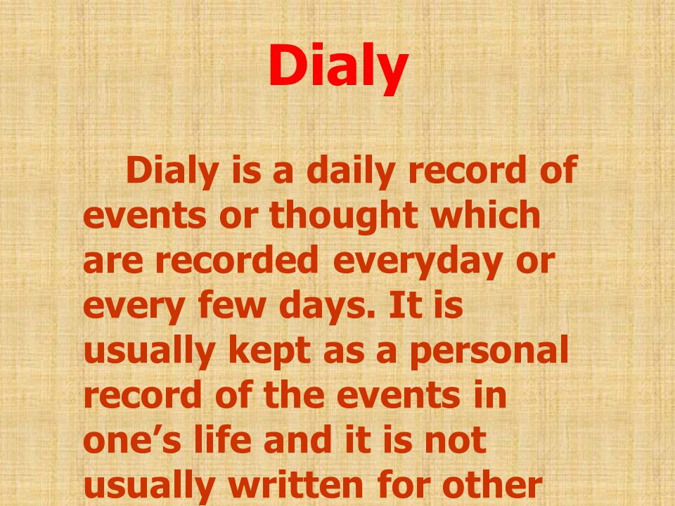 Dialy