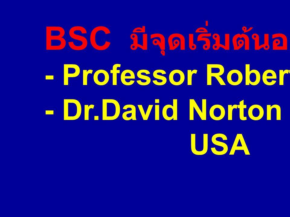 BSC มีจุดเริ่มต้นอย่างไร