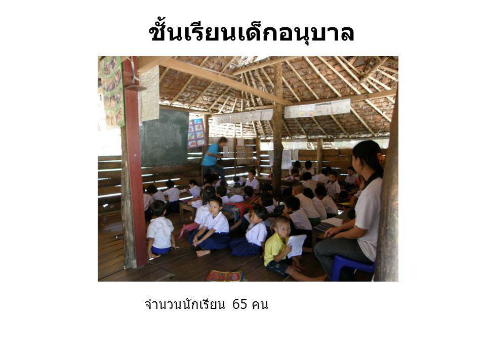 ชั้นเรียนเด็กอนุบาล จำนวนนักเรียน 65 คน