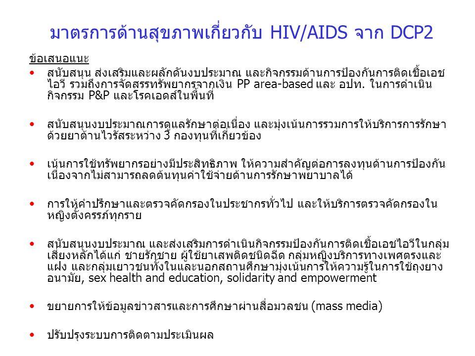 มาตรการด้านสุขภาพเกี่ยวกับ HIV/AIDS จาก DCP2