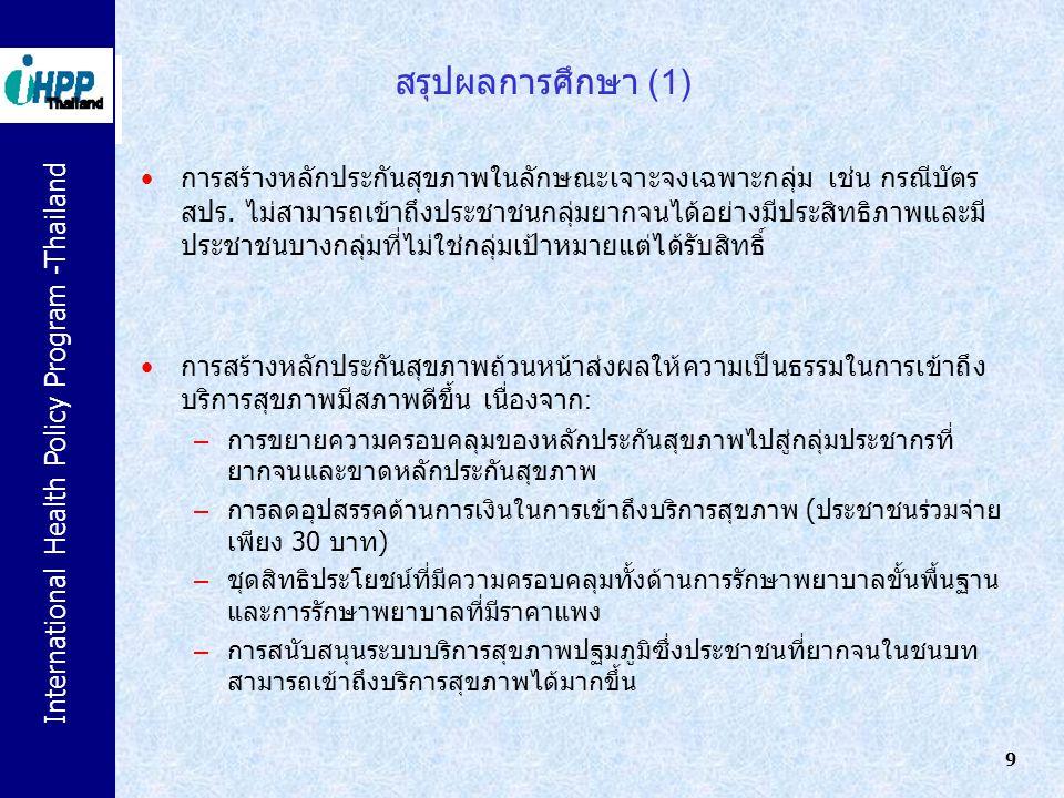 สรุปผลการศึกษา (1)