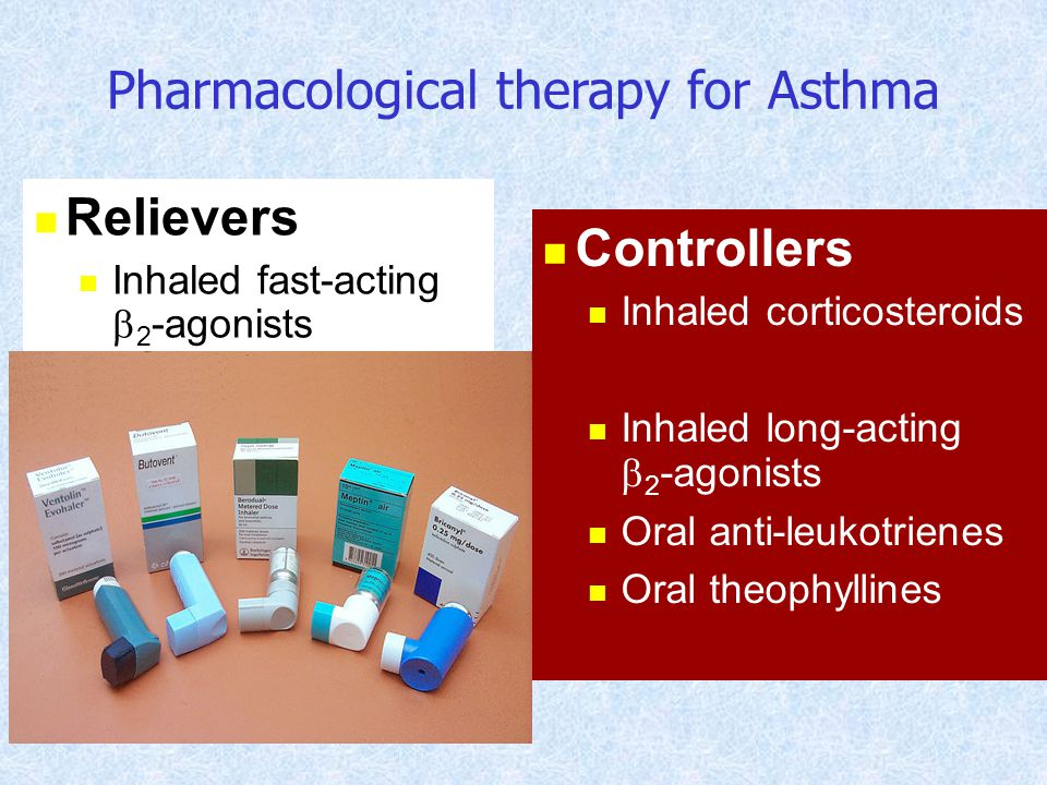 Pharmacological therapy for Asthma