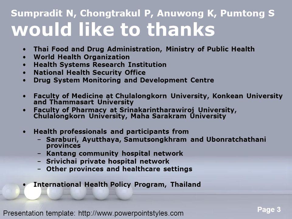Sumpradit N, Chongtrakul P, Anuwong K, Pumtong S would like to thanks