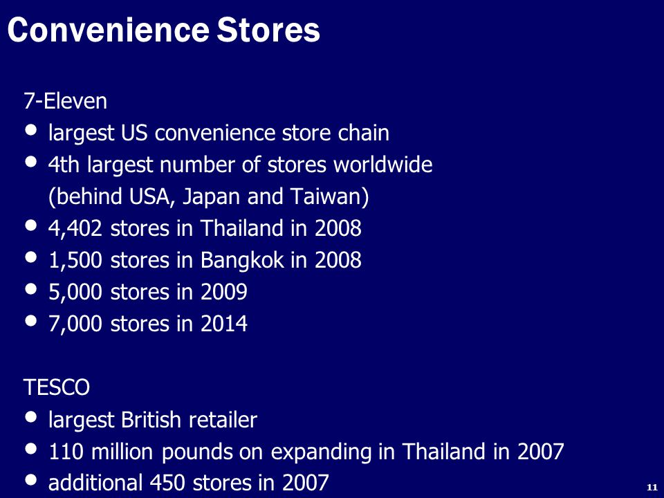 Convenience Stores 7-Eleven largest US convenience store chain
