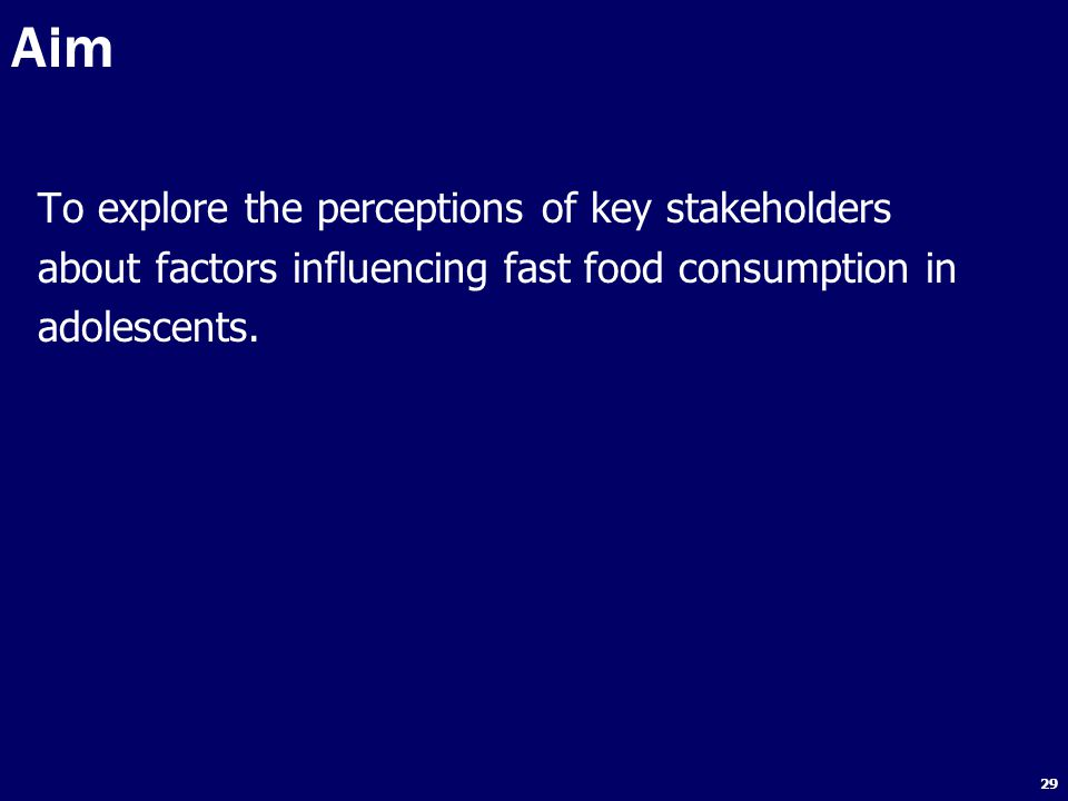 Aim To explore the perceptions of key stakeholders