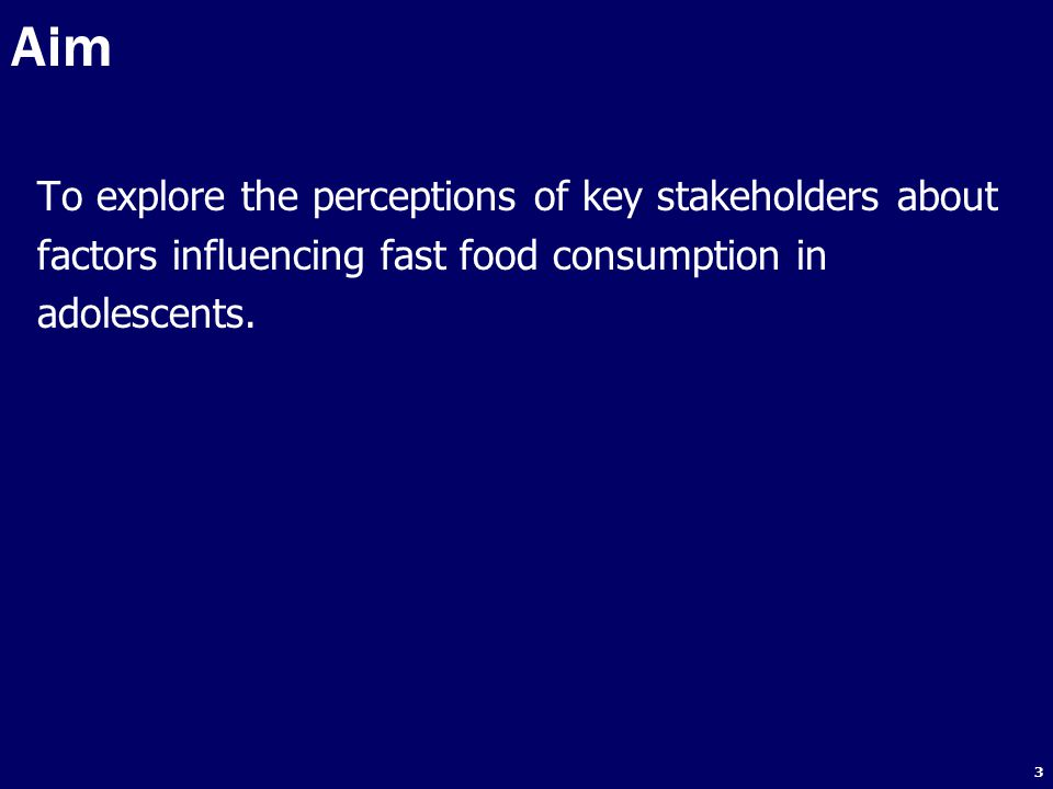 Aim To explore the perceptions of key stakeholders about