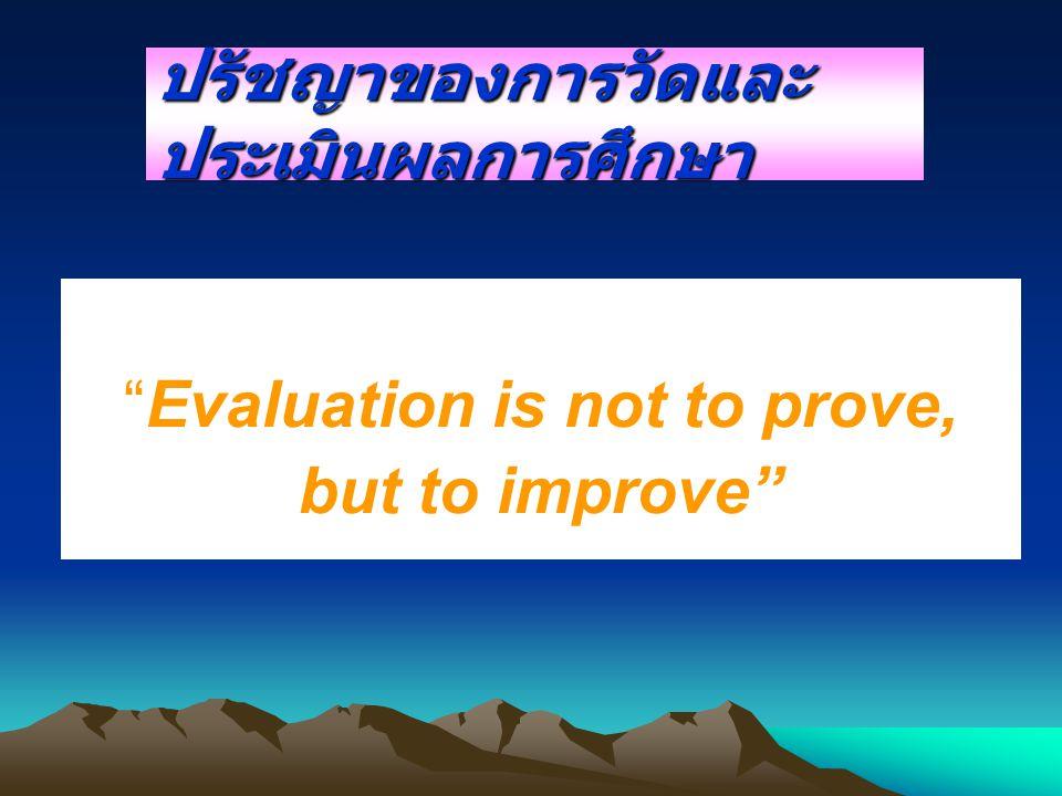 ปรัชญาของการวัดและประเมินผลการศึกษา