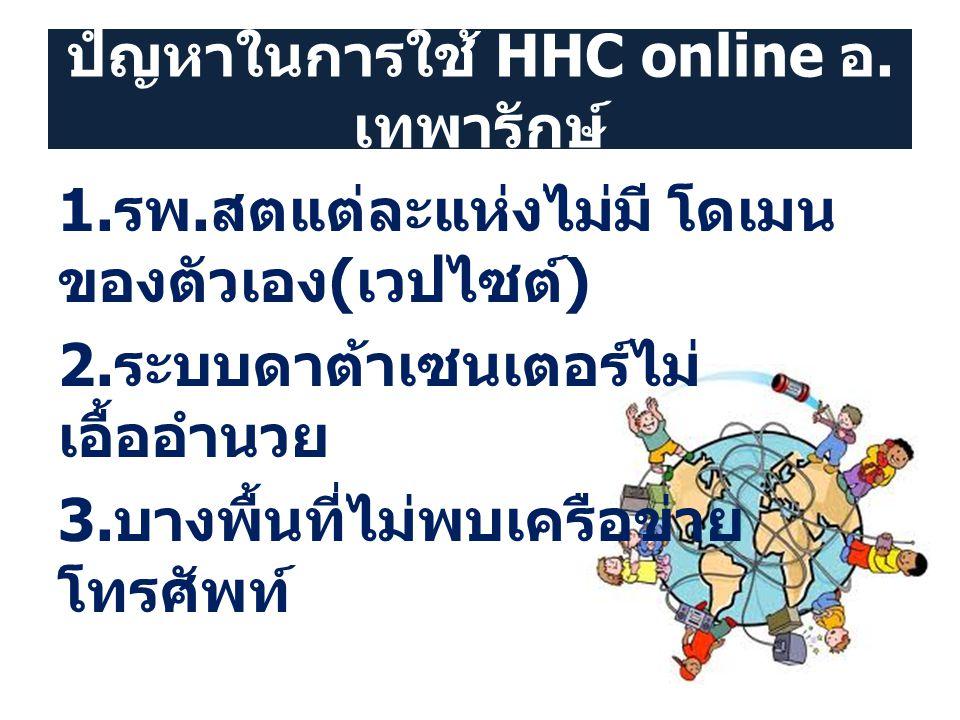 ปํญหาในการใช้ HHC online อ.เทพารักษ์
