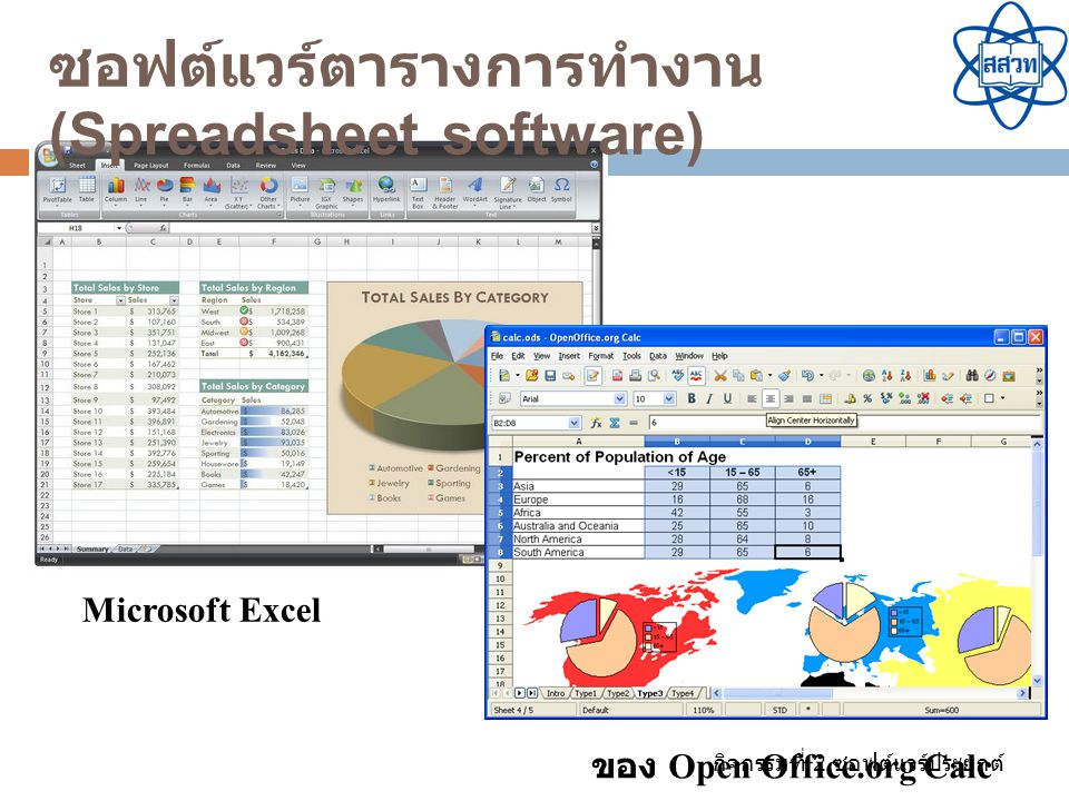 ซอฟต์แวร์ตารางการทำงาน (Spreadsheet software)
